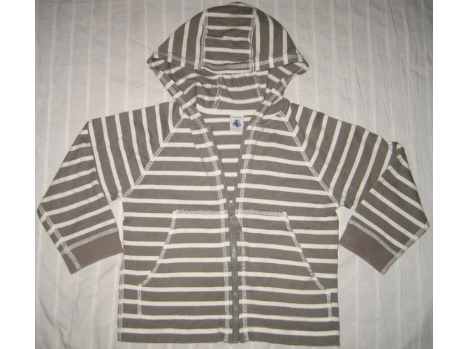 Petit Bateau Sweaters Sweaters Cotton Taupe ref.15799