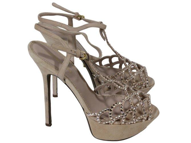 Deerskin Sergio Ref Rossi Pink 15821 Closet Sandals Joli 7yY6gbf
