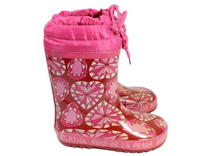 Agatha Ruiz de la Prada Boots Boots Cloth Pink ref.15836