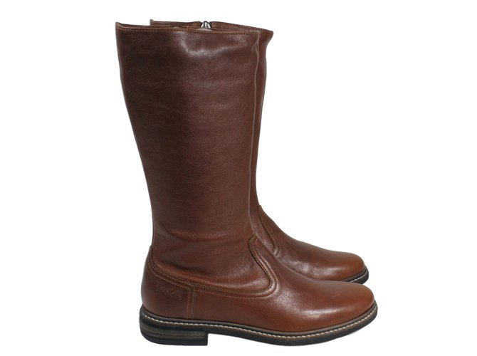 Autre Marque Boots Boots Leather Brown ref.15837