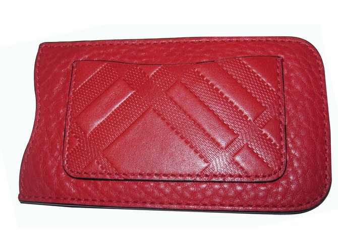 Burberry Purses, wallets, cases Purses, wallets, cases Leather Red ref.16003