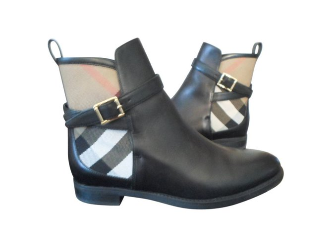 Burberry Ankle Boots Ankle Boots Leather Black ref.16174