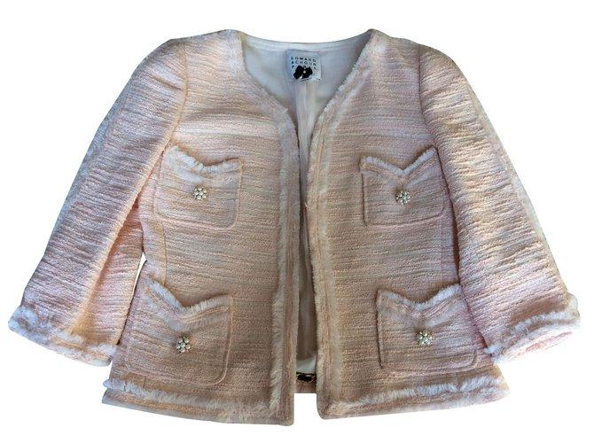 3cbceae0e7093 Edward Achour Jackets Jackets Cotton Pink ref.16201 - Joli Closet