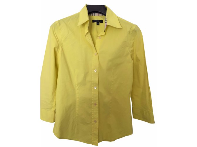 Burberry Tops Tops Cotton Yellow ref.16289