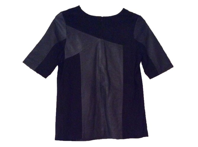 Tops Bel Air Top en cuir Cuir Noir ref.16408