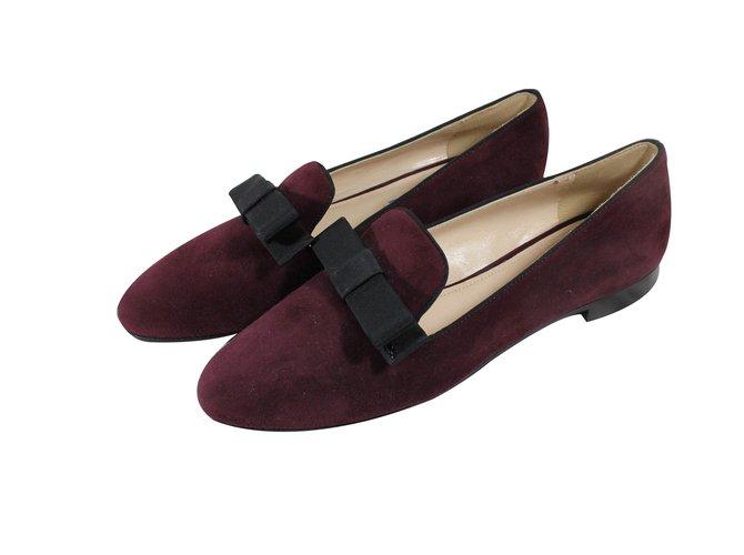 2eb8b67033e Prada Loafers Flats Suede Dark red ref.16576 - Joli Closet