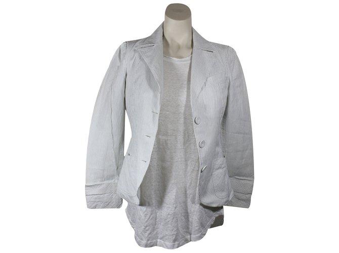 vestes kenzo veste coton blanc joli closet. Black Bedroom Furniture Sets. Home Design Ideas