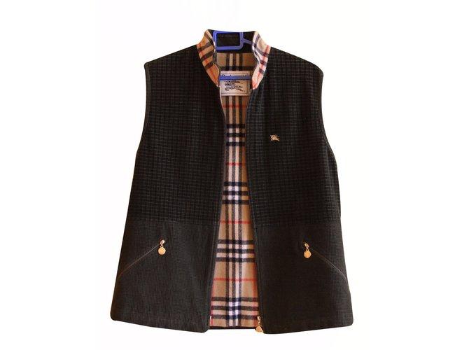 Burberry Jackets Jackets Wool Khaki ref.16704