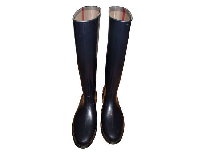 Burberry Boots Boots Plastic Blue ref.16712