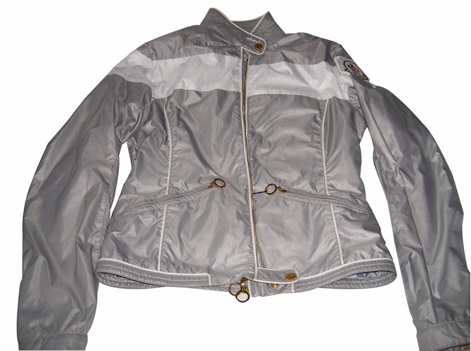 Moncler Jackets Jackets Polyester Grey ref.16786