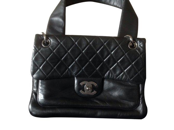 Sacs à main Chanel Sacs à main Cuir Noir ref.16808