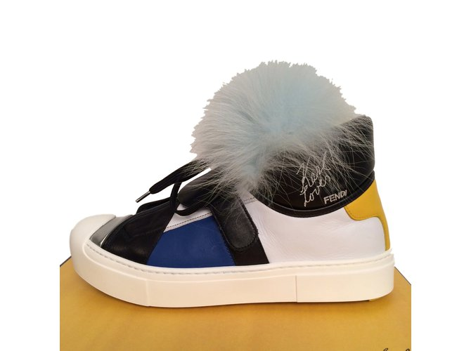 8952e48f37e Baskets Fendi Karlito sneakers Cuir Multicolore ref.16887 - Joli Closet