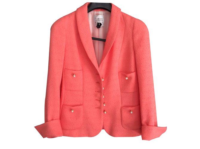ce23b3b772fb5 Edward Achour Jacket Jackets Polyester Coral ref.17091 - Joli Closet