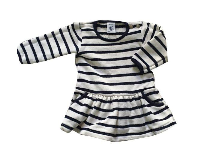 Robes Fille Petit Bateau Robes Fille Coton Bleu Ref 17126 Joli Closet