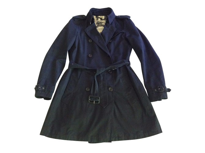 Burberry Trench coats Trench coats Cotton Black ref.17205