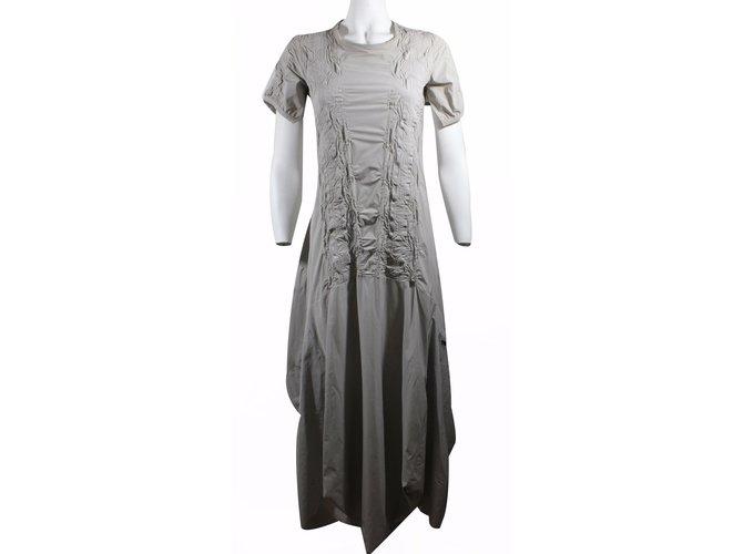 7688d693a2a Marithé et François Girbaud Long dress Dresses Other Taupe ref.17297 ...