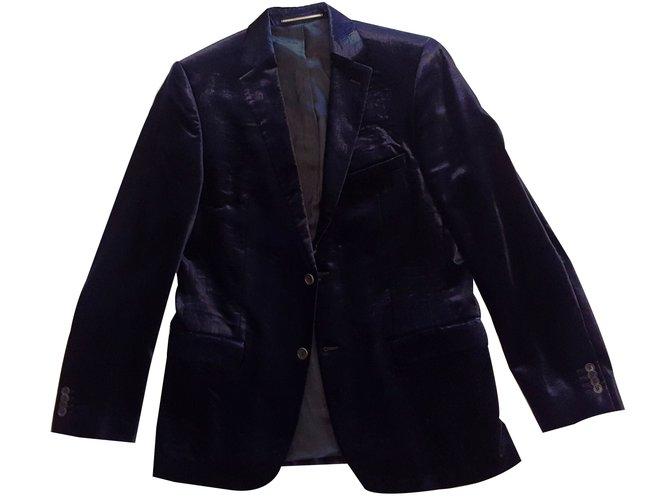 Karl Lagerfeld Extravagant Velvet Suit von Karl Lagerfeld Suits Velvet Blue ref.17340