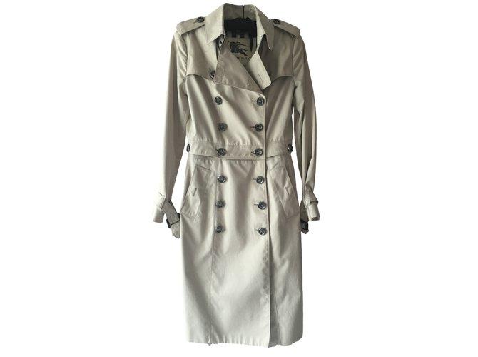 Burberry Burberry London Khaki Convertible Trench Coat Coats, Outerwear Cotton Khaki ref.17430