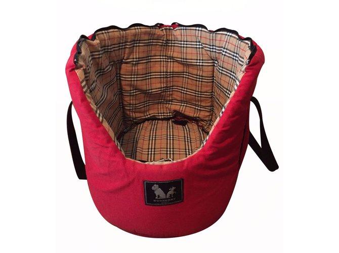 Burberry Travel bag Travel bag Cotton Red ref.17489
