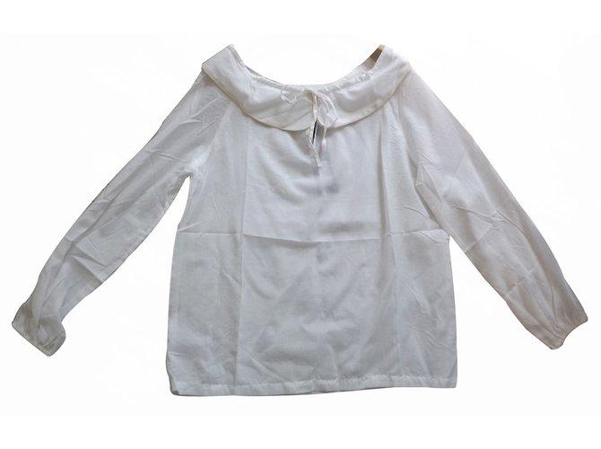 Tops Bel Air Blouse Coton Blanc ref.17560