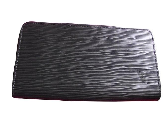 Petite maroquinerie Louis Vuitton portefeuille zippy cuir épis Cuir Noir  ref.17825 95a31272d05