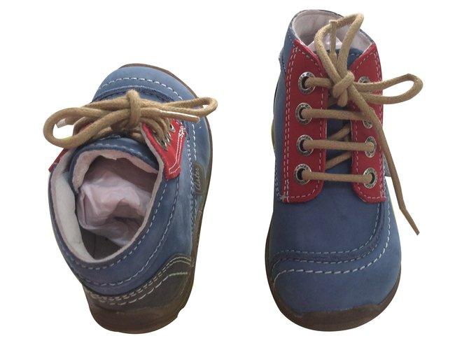 Chaussures à lacets Autre Marque Chaussure aster enfant Cuir Bleu ref.17833
