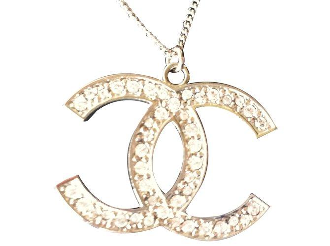 a35e3f11795ed2 Chanel Chanel Necklace Necklaces Steel Silvery ref.17859 - Joli Closet