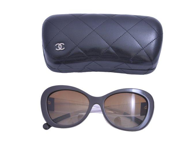 9189a7438a Chanel Cat-eye Chanel sunglasses Sunglasses Plastic Brown ref.17989 ...