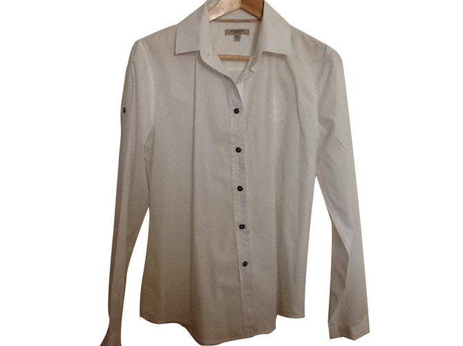 Burberry Classic white Burberry shirt Tops Cotton White ref.18009