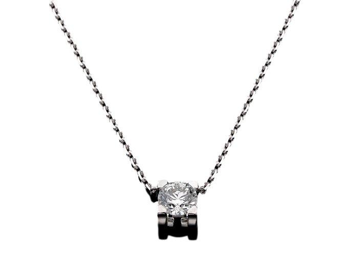 Cartier necklace c de cartier pendant necklaces white gold silvery mozeypictures Choice Image