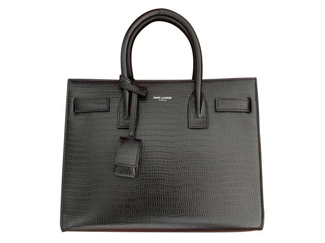 Saint Laurent Handbags Handbags Leather Black ref.73406 - Joli Closet df5e29d325e4