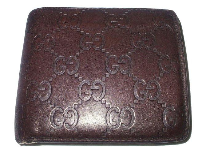 bb0dfd0d336 Gucci Wallets Small accessories Wallets Small accessories Leather Brown  ref.18224