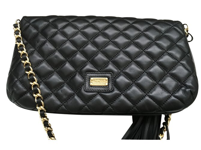 Moschino And Chic Handbags Leather Black Ref 18265