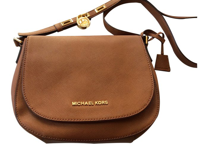a9117431d4e0 Michael Kors Hamilton shoulder bag Michael by Michael Kors Handbags Leather  Caramel ref.18278
