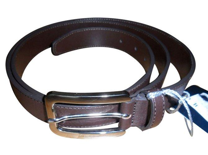 Aquascutum Aquascutum men's belt Belts Leather Brown ref.18341