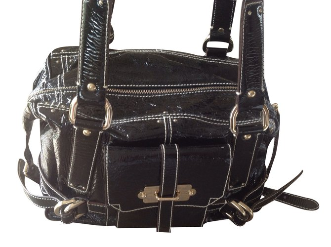 Luella Handbag Handbags Patent Leather Black Ref 18390