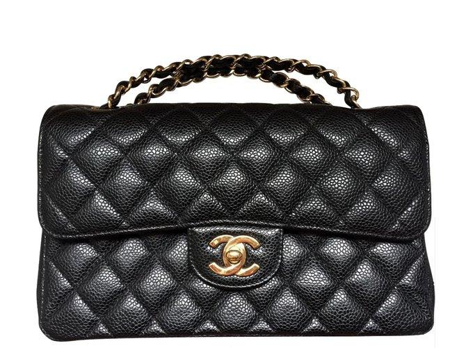 Sacs à main Chanel Chanel 2.55 caviar Cuir Noir ref.18582