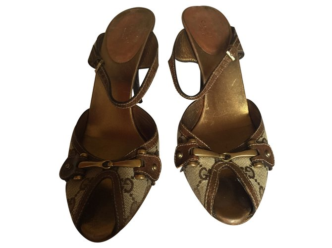 37820d064be9 Gucci Sandals Sandals Leather Other ref.18787 - Joli Closet