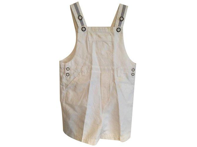 Autre Marque Overalls Pants Cotton White ref.18985