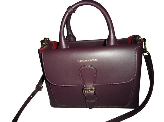 Burberry Handbags Handbags Leather Prune ref.19000