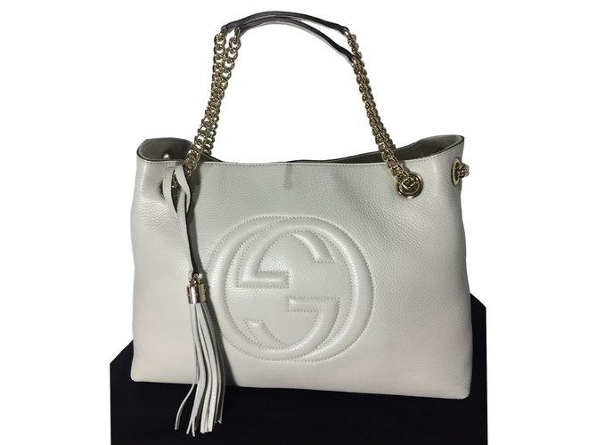 8dece8b5325b Gucci Soho Gucci chain bag Handbags Leather Black ref.19270 - Joli ...