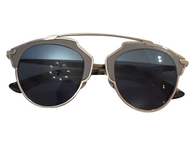 Lunettes Dior Dior so real en cuir Cuir Gris ref.19324 - Joli Closet df760c890205