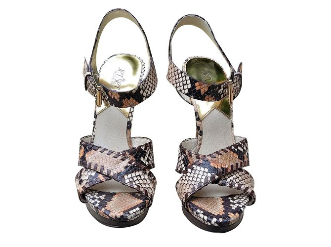 7d830b2f7b00 Michael Kors Sandals Sandals Leather Python print ref.19515 - Joli ...