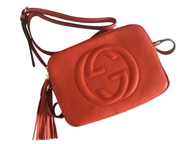 112ce28e1e91a Gucci Soho Gucci disco bag Handbags Leather Orange ref.19550 - Joli ...
