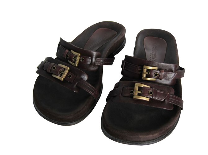 d37e97af7ed1 Pedro Garcia Sandals Sandals Leather Brown ref.19639 - Joli Closet