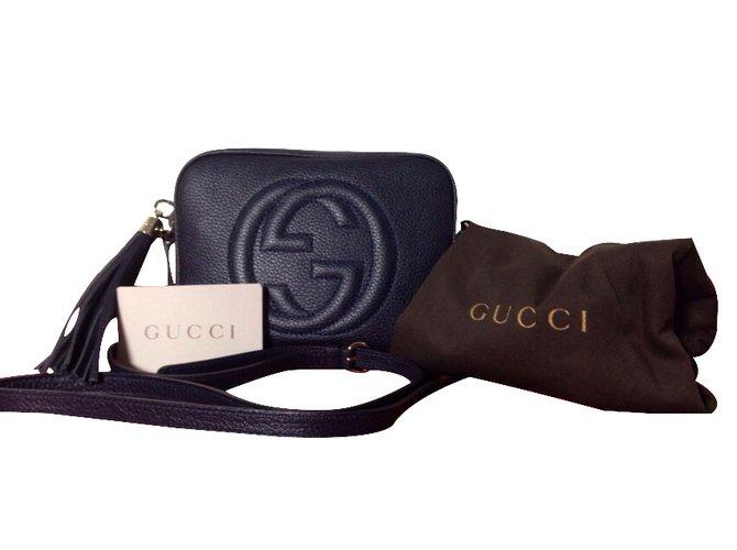 Sacs à main Gucci Disco bag gucci Cuir Bleu ref.19743 - Joli Closet cb08e2d8071