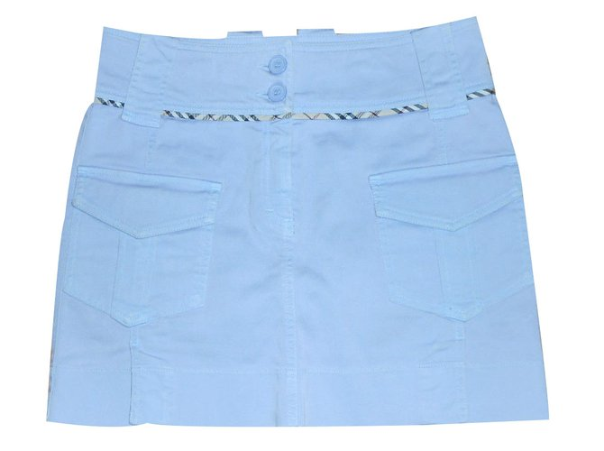 Burberry Skirts Skirts Cotton Blue ref.19825