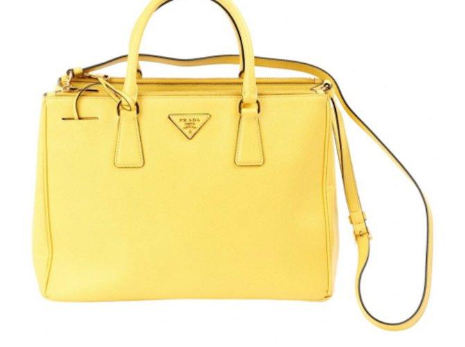 a110b9d3c4 Prada Saffiano Handbags Leather Yellow ref.20232 - Joli Closet