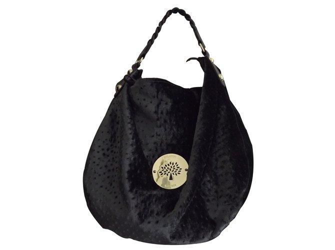 43c7963280da Mulberry daria hobo velvet ostrich Handbags Other Grey ref.20254 ...