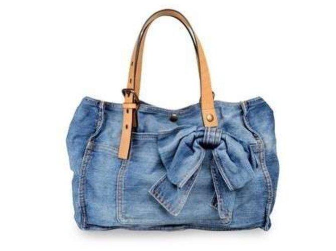 43be118fc962 Red Valentino Denim bag Handbags Denim Blue ref.20296 - Joli Closet